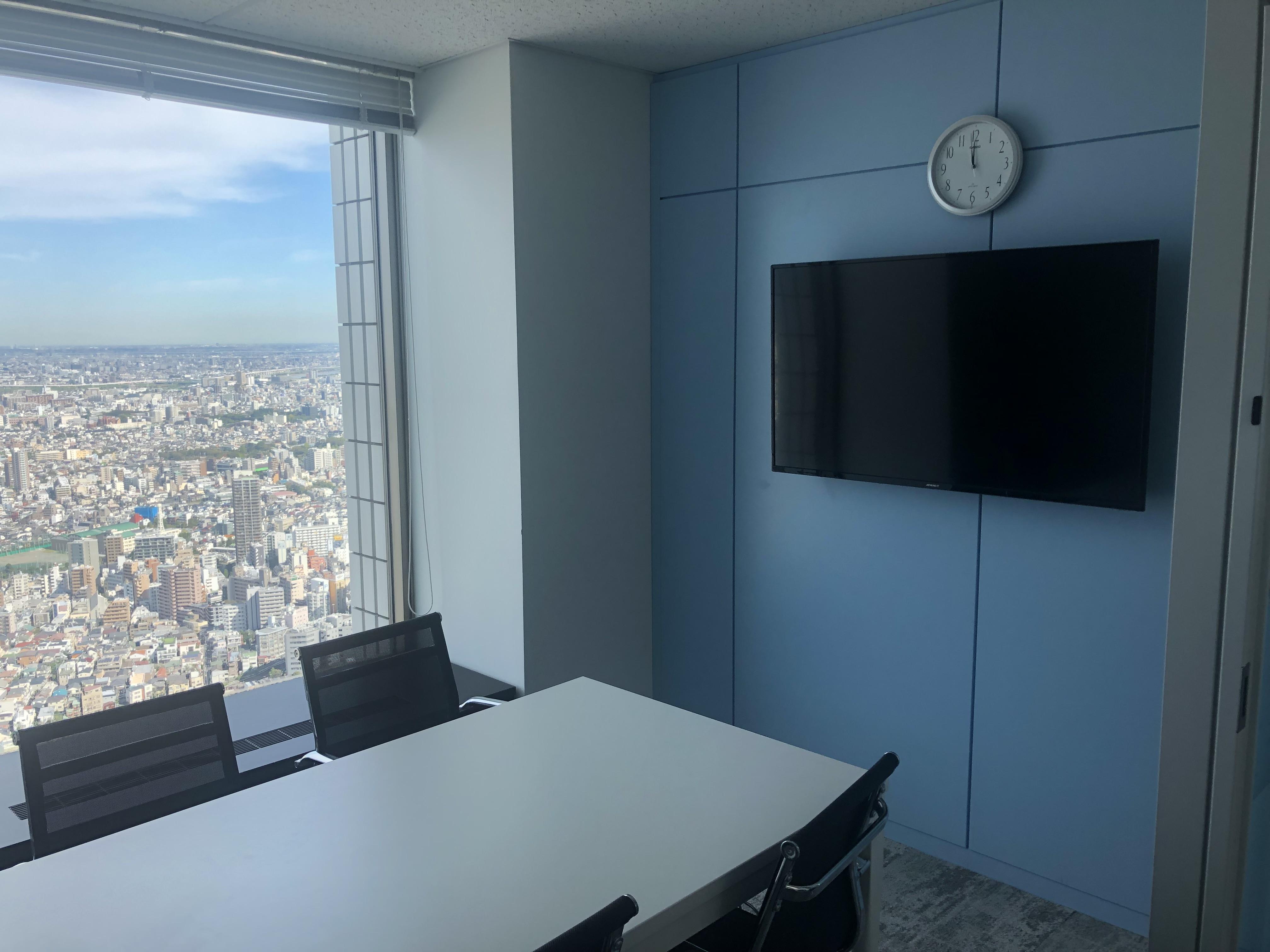 東京を見渡すオフィス